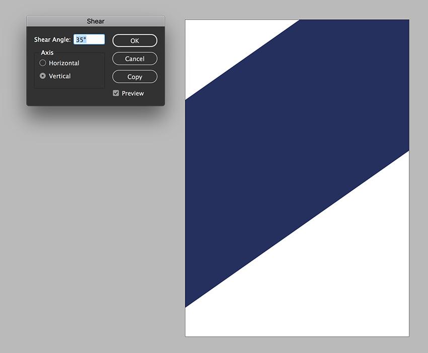 create a rectangle and use the shear option