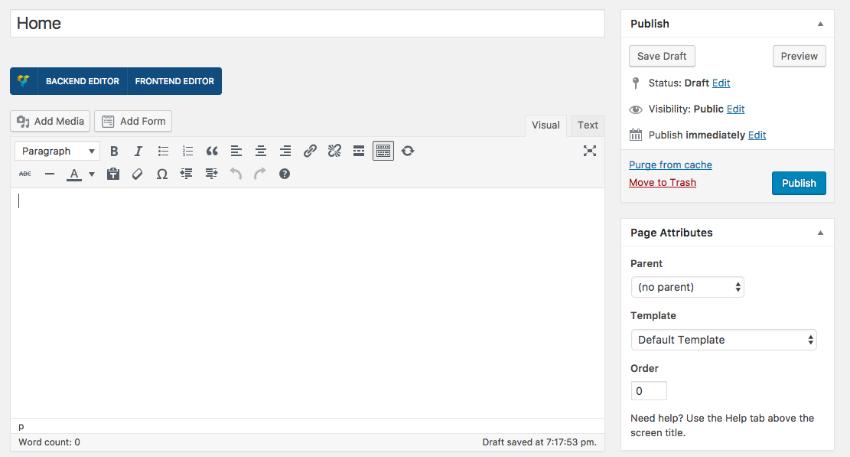 Adding a homepage