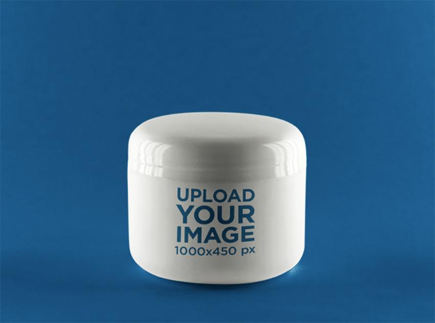 Label Mockup Featuring a Plastic Jar
