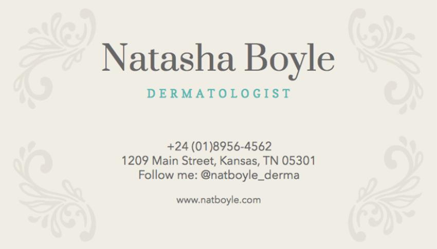 Dermatologist Business Card Template
