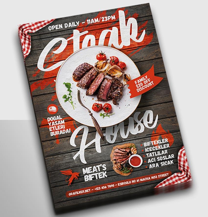 Steak House Flyer Templates