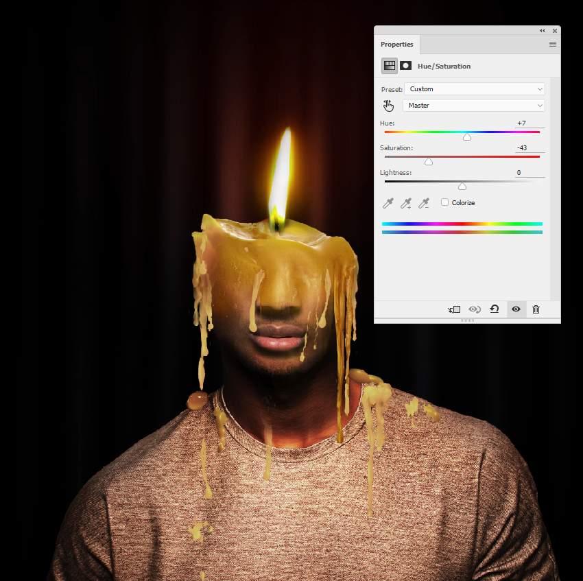 photo effect - wax 2 hue saturation