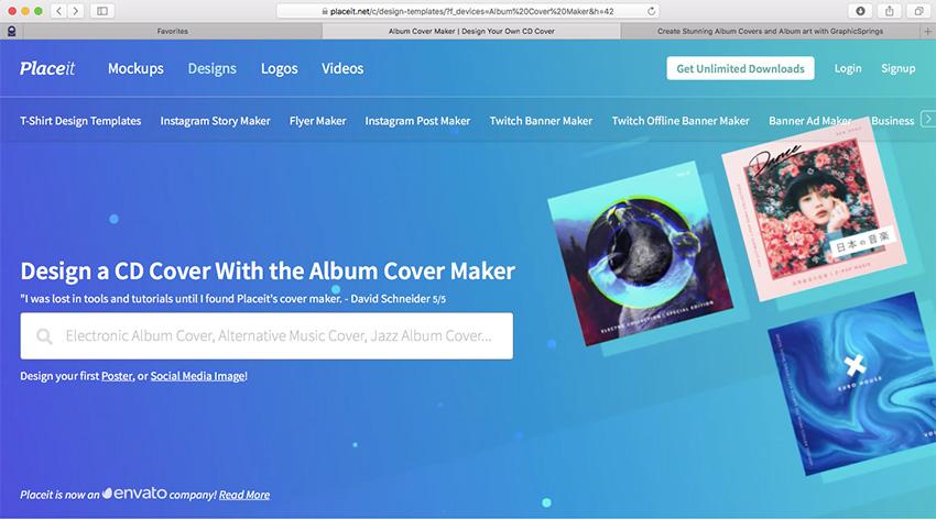 create music album cover online free