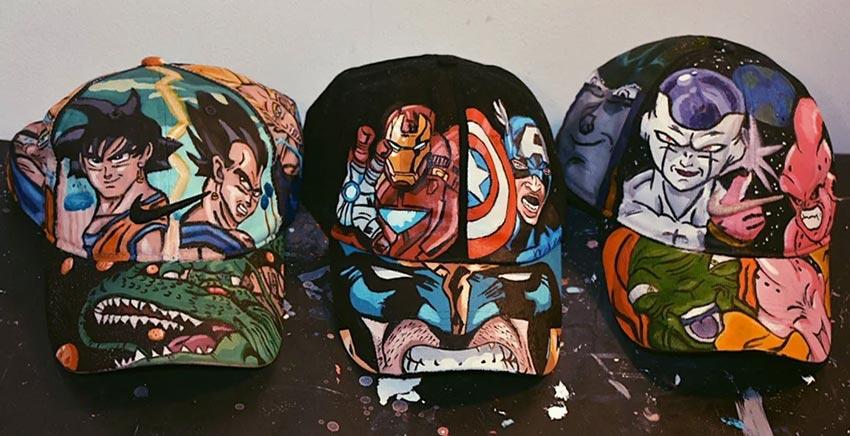 Custom Painted Caps