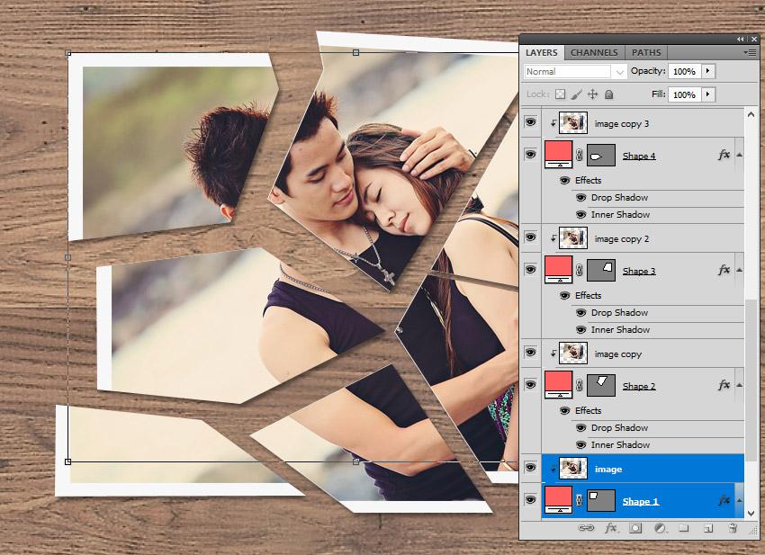Cut Paper in Photoshop