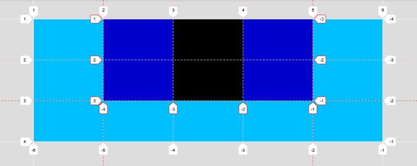 Subgrid simulation grid tracks