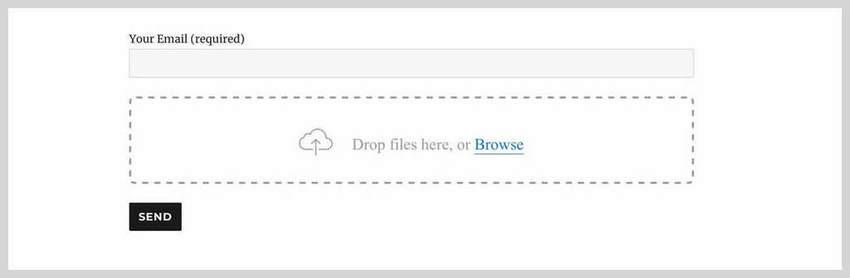 Drop Uploader for CF7Drag and Drop File Uploader Plugin