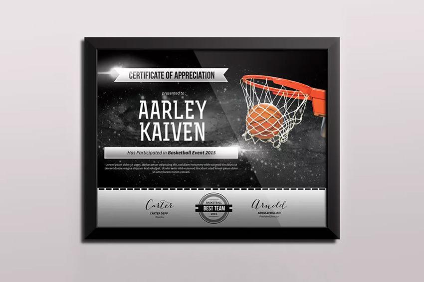 Basketball Certificates