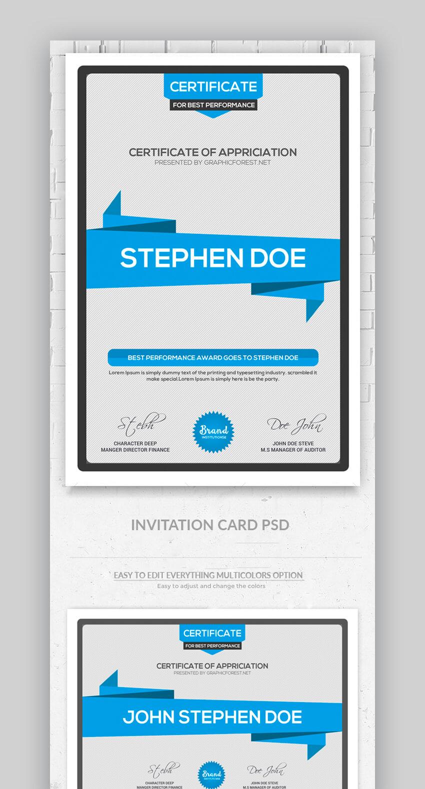 Certificate PSD