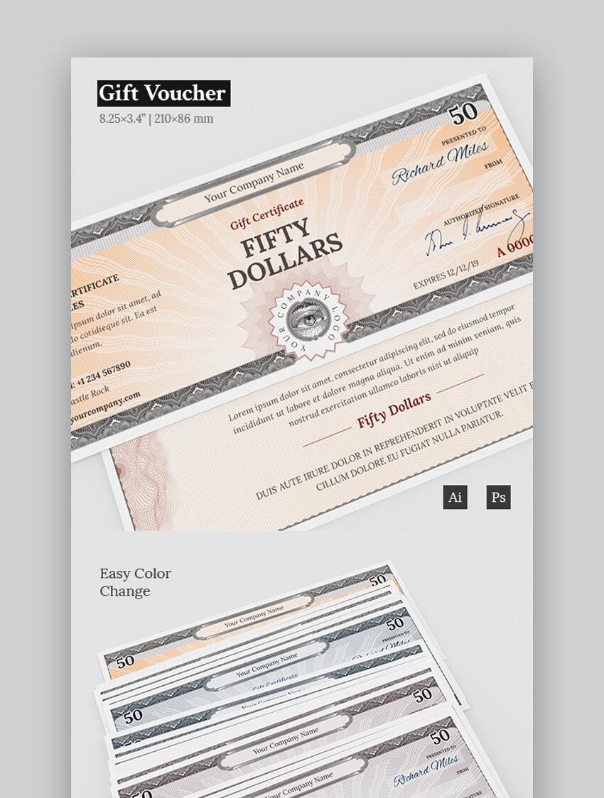 Gift Voucher Certificate