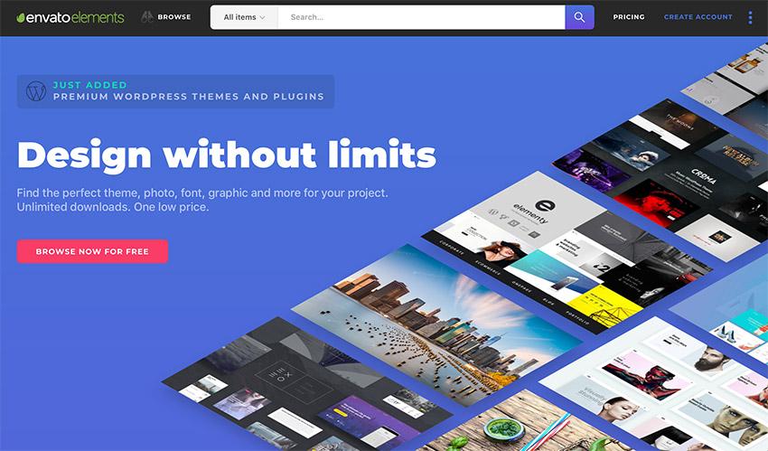 Envato Elements Unlimited creative template downloads